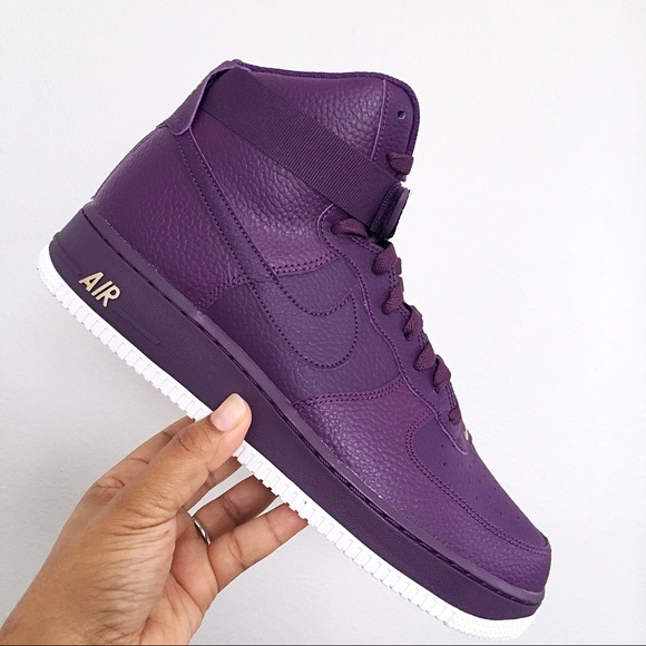 reasonably priced cheapest release date: Nike Air Force 1 High 07 Night Purple Mens Shoes NWT